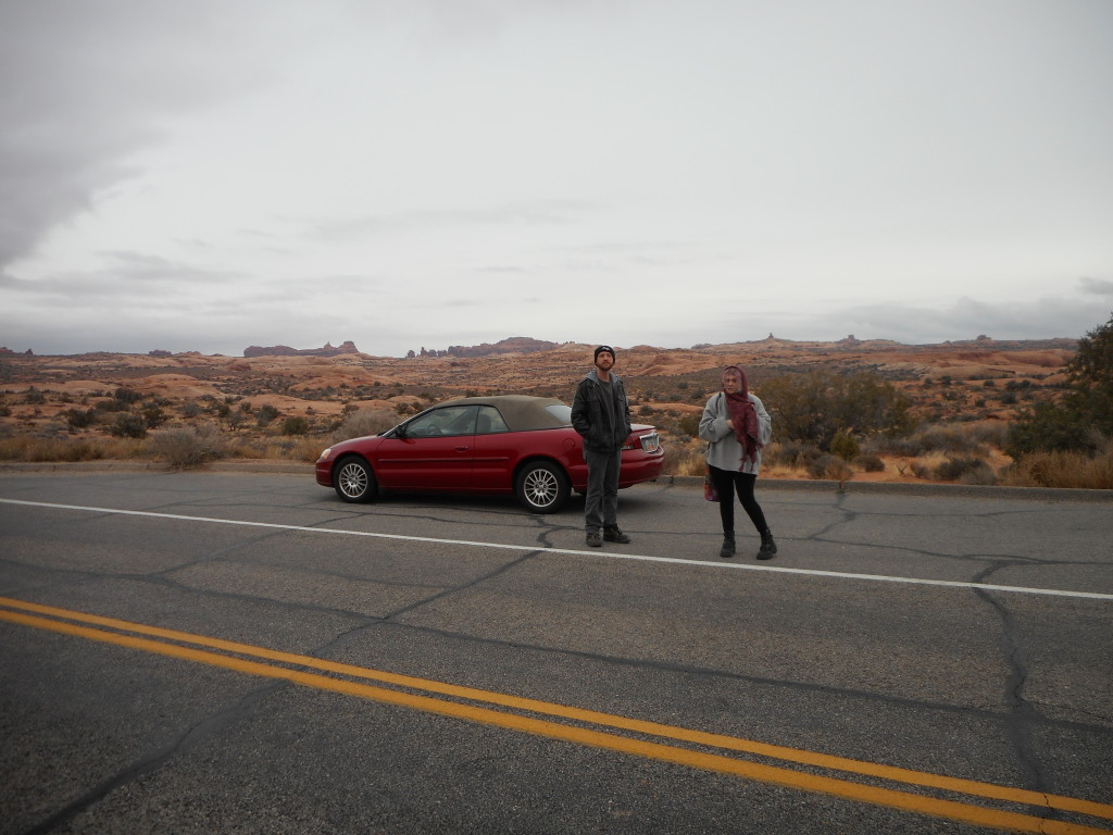 Pictured: The majority of your trip to Arches National Park.
