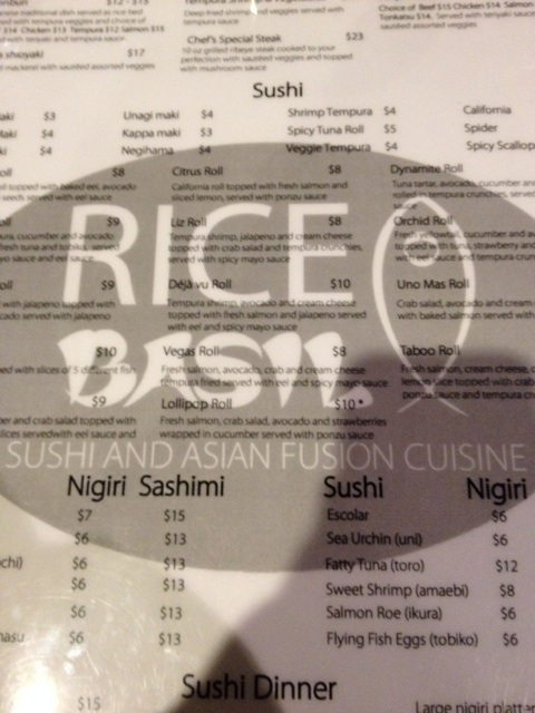 Rice Basil's menu