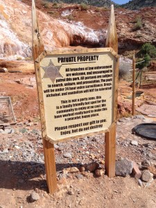 Technically, this is private property, so be respectful y'all.