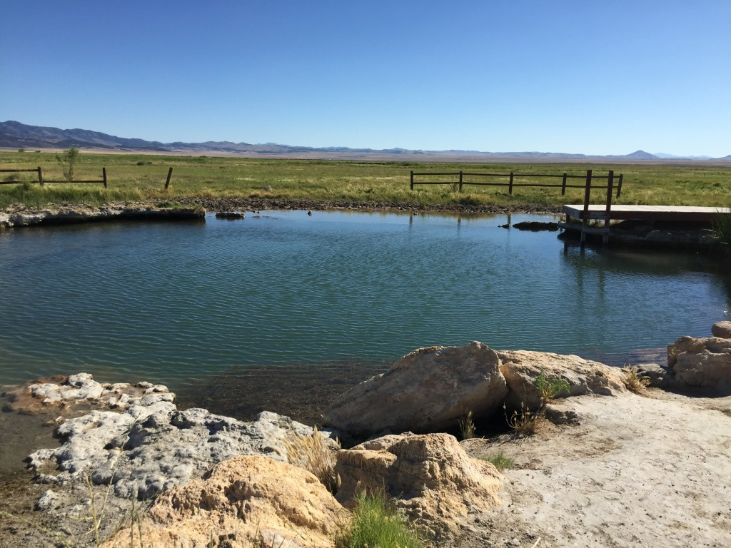 The western-most, coolest, and most fish-ful pool.