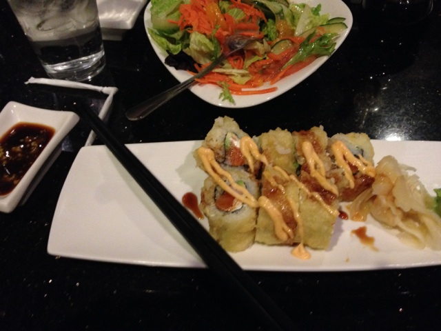Rice Basil's sushi and salad